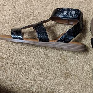 Franco Sarto Velcro ankle strap sandles nwot